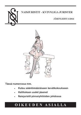 naisjuristit 01/20014 kansi